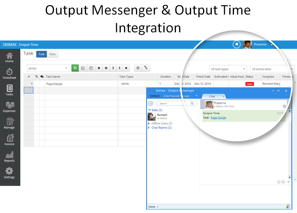 Output Messenger integration
