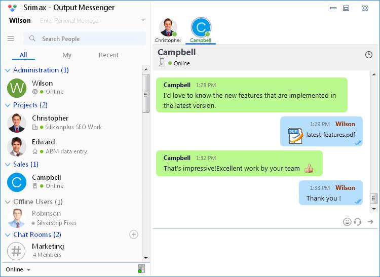 Output Messenger | Srimax